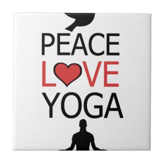 Peace Love & Yoga Tile
