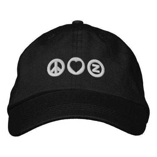 Peace Love Zazzle Baseball Cap