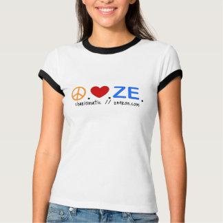 Peace.Love.ZE. Ringer Tee