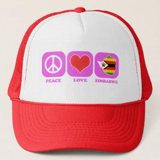 Peace Love Zimbabwe Trucker Hat