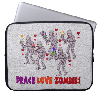 Peace Love Zombies Laptop Sleeve