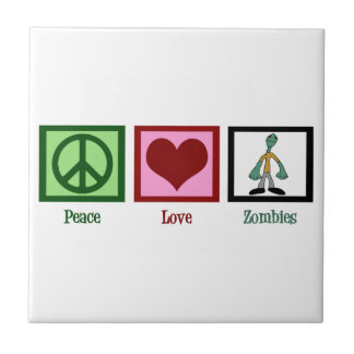 Peace Love Zombies Tile