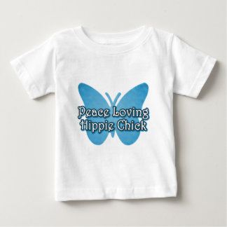 Peace Loving Hippie Chick Baby T-Shirt