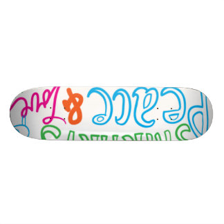 peace lovw skatebord custom skate board