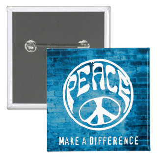 Peace: Make a Difference 2 Inch Square Button