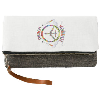 Peace Maker, hippie military drone funny Clutch