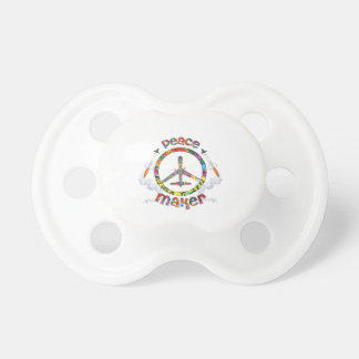 Peace Maker, hippie military drone funny Pacifier