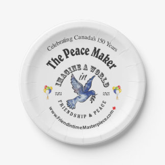 Peace Maker Paper Plate