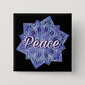 Peace mandala 2 inch square button