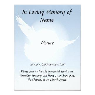 "Peace Memorial 4.25"" X 5.5"" Invitation Card"