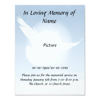 Peace Memorial 4.25x5.5 Paper Invitation Card