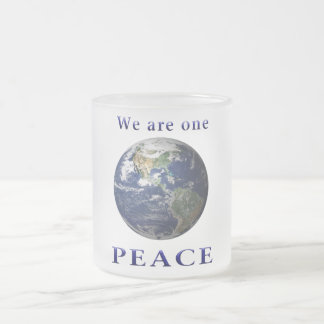 PEACE merchandise Frosted Glass Coffee Mug