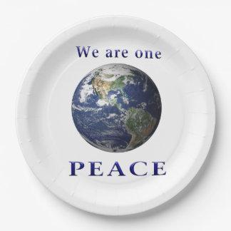 PEACE merchandise Paper Plate