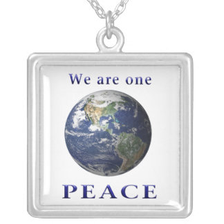 PEACE merchandise Silver Plated Necklace