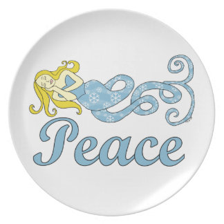 Peace Mermaid (Holiday Dreams) Plate