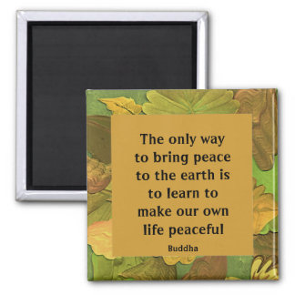 peace message from Buddha Magnet