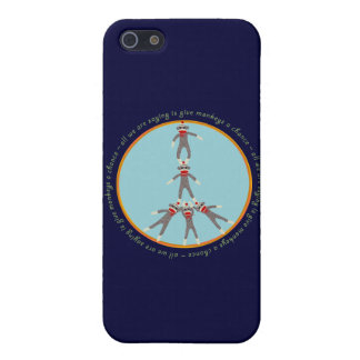 Peace Monkeys iPhone 5/5S Cover