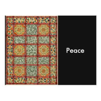 Peace Mosaic Postcard