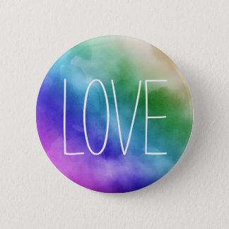 Peace Multicoloured LGBT Love Pride 2 Inch Round Button