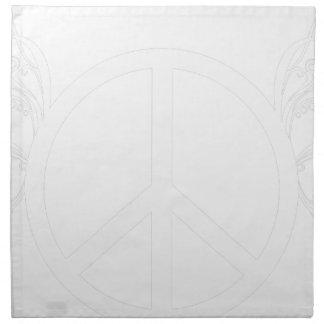 peace napkin