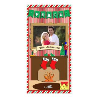 Peace • Night Before Christmas Spirit • 2 Stocking Card