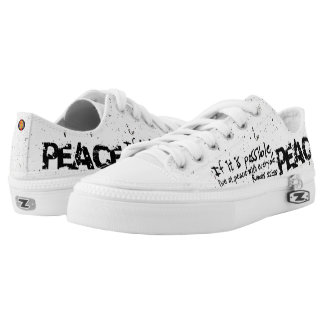 """+ """"Peace No. 1"""" Distressed Women's Printed Shoes"""