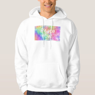 Peace now2! Custom Men's Basic Hooded Sweatshirt