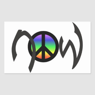 Peace Now with Rainbow Sticker
