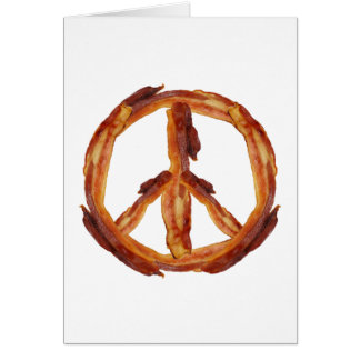 Peace Of Bacon Greeting Card