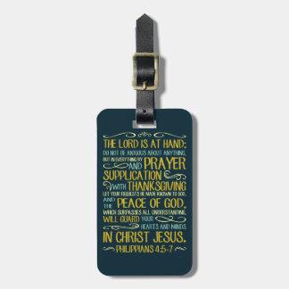 Peace of God Philippians 4:5-7 Luggage Tag