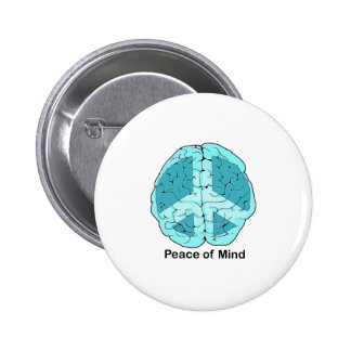 Peace of Mind 2 Inch Round Button