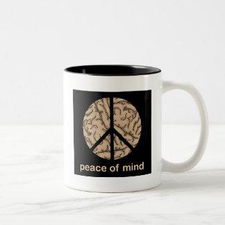 Peace of Mind Two-Tone Coffee Mug