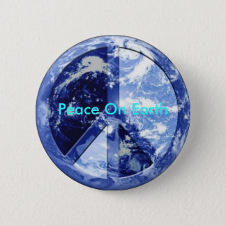 Peace On Earth 2 Inch Round Button