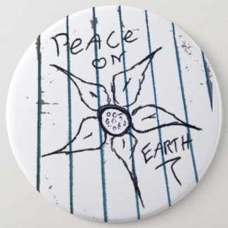 Peace on Earth 6 Inch Round Button