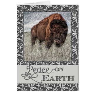 Peace on Earth - American Buffalo - Bison Card