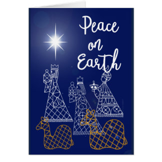 Peace On Earth and Three Wise Men card