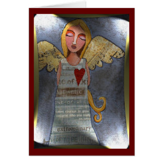 Peace on Earth Angel - Christmas greeting card