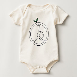 Peace on Earth Baby Bodysuit