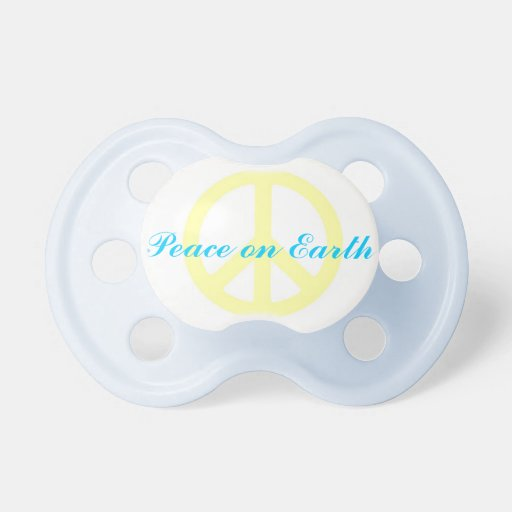 """Peace on Earth"" Baby Boy Pacifier"