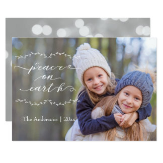 Peace on Earth Calligraphy Photo Card
