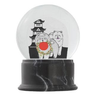 PEACE ON EARTH  - Chow snow globe-customize snow Snow Globe