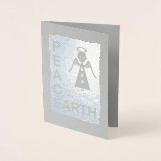 Peace on Earth Christmas Angel ID423 Foil Card