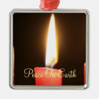 Peace On Earth Christmas Candle Ornament