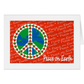 Peace on Earth Christmas Greeting Card