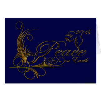 Peace On Earth Christmas Card With Dove