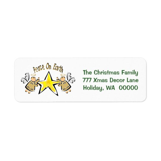 Peace On Earth Christmas Cards Mail Label Sticker