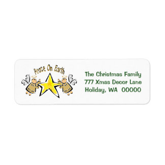 Peace On Earth Christmas Cards Mail Label Sticker Return Address Label
