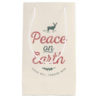 Peace on Earth Christmas Gift Bag
