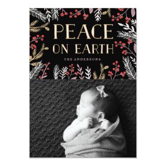 """Peace On Earth  Christmas Holiday Card 5"""" X 7"""" Invitation Card"""
