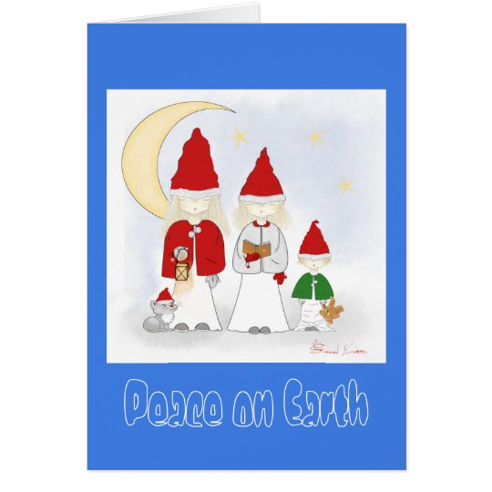 Peace on Earth Christmas Holiday Greeting Card